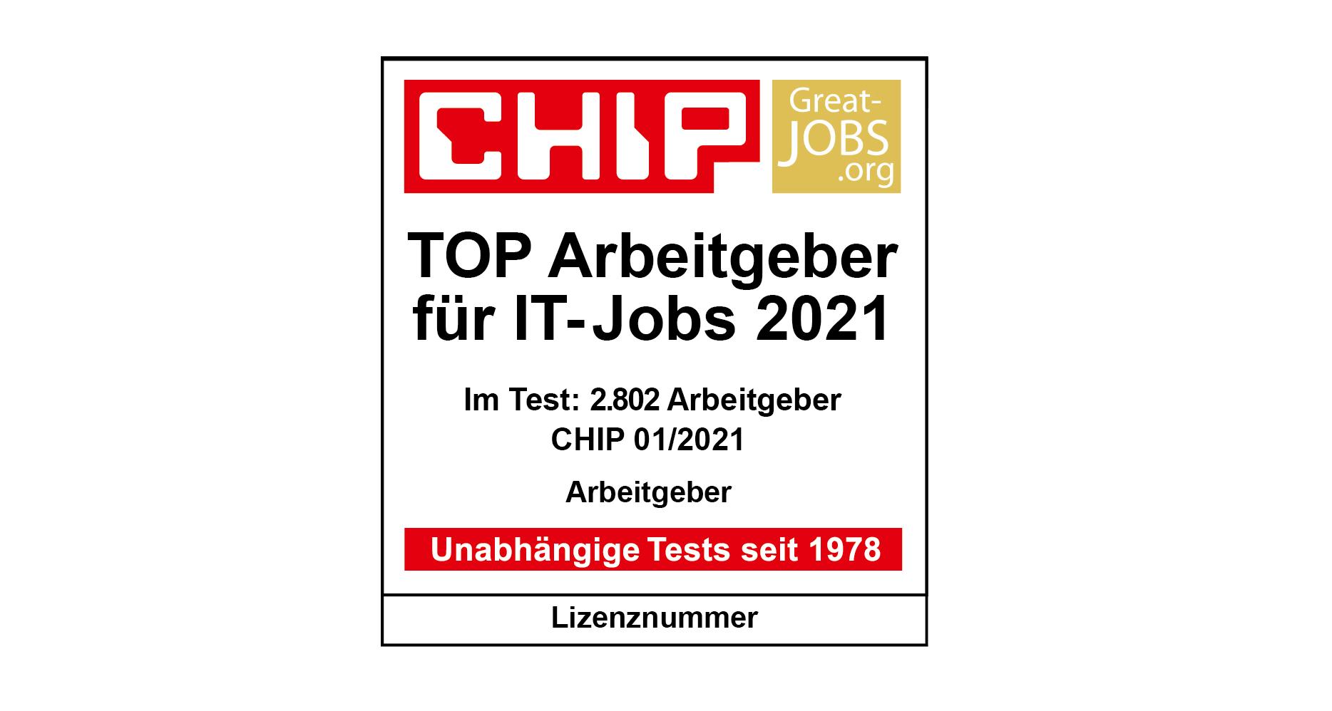 CHIP Great Jobs Top IT Arbeitgeber